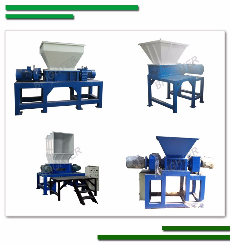 Indutrial plastic recycling double shaft shredder