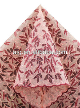 African French Lace,Net Lace Fabric, Handcut Voile Lace,2911 PEACH