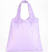 cheap nylon foldable shopping bag in pouch
