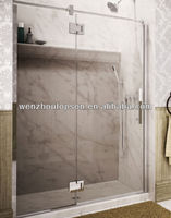 In-line glass&glass hinge shower door,frameless shower room,shower enclosure