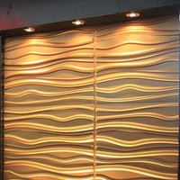 decorative wave design kitchen wall panels waterproof material