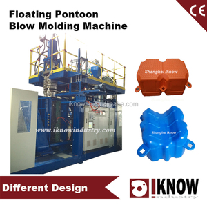 Plastic floating dock making machine