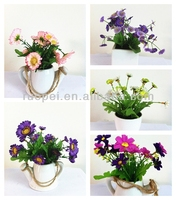 Real touch potted plastic artificial flower bonsai