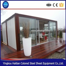 2017 pop hot sale new good nice customized wood prefabricated house made from brown or reddish Vietnam mixed hardwood