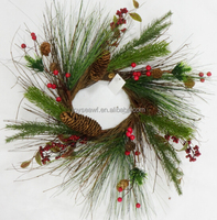 artificial pine tree branches and leaves