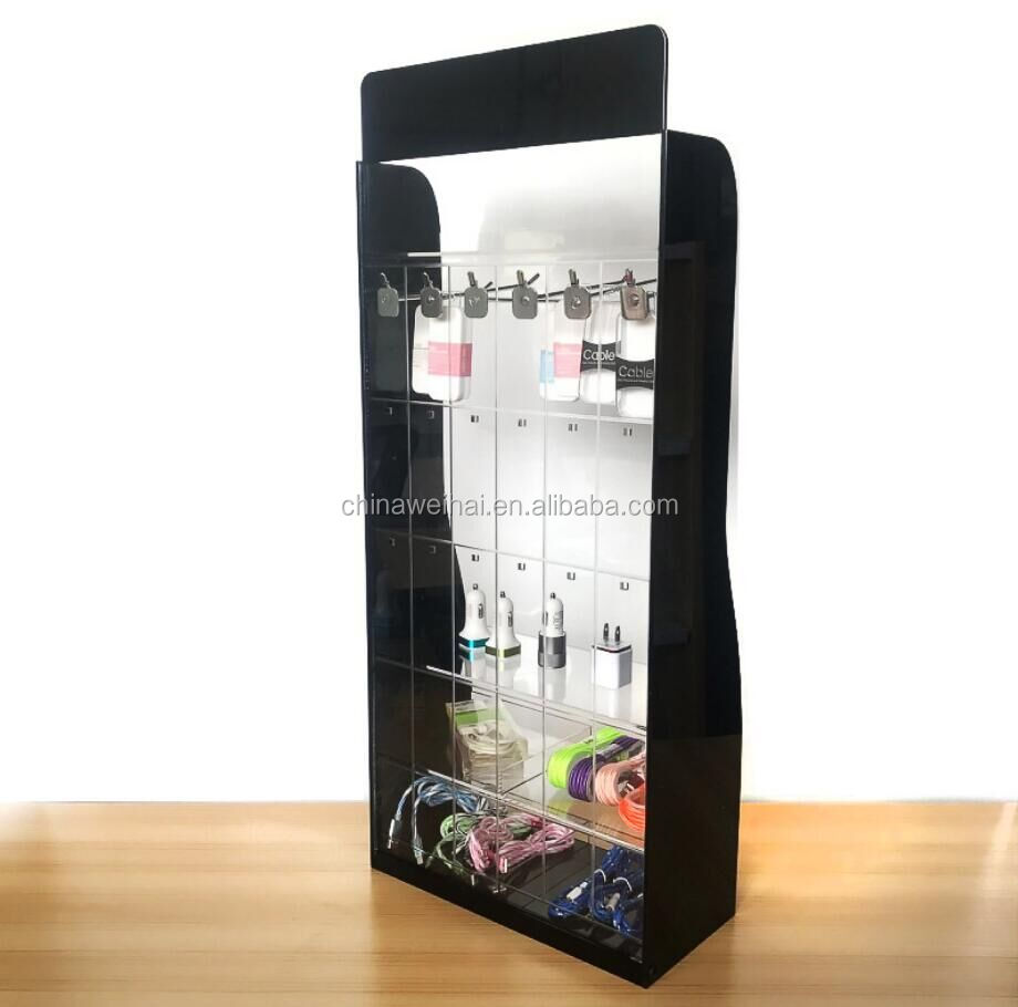 Black Acrylic Display Stand Phone Accessories Customize