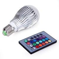 E27 RGB LED Lamp Light Bulb 16 Colors Changing 9W magic + IR Remote Control CJ-RGBQPD-020