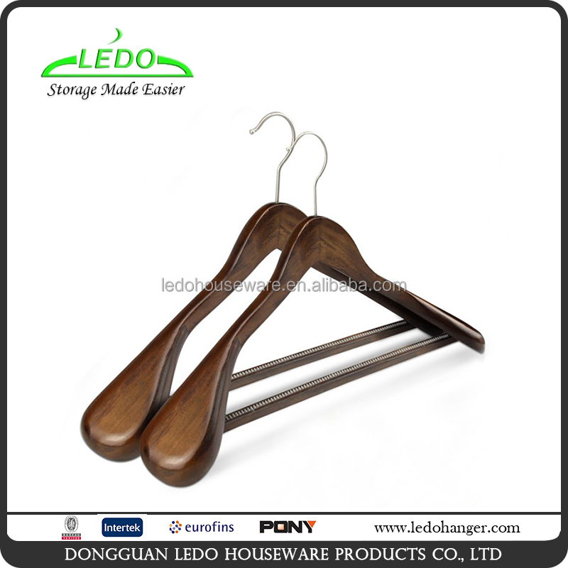 Wholesale Extra-wide Shoulder Antique Wooden Suit Coat Hanger