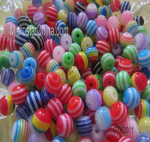 20mm stripe resin plastic beads for necklace jewelry making