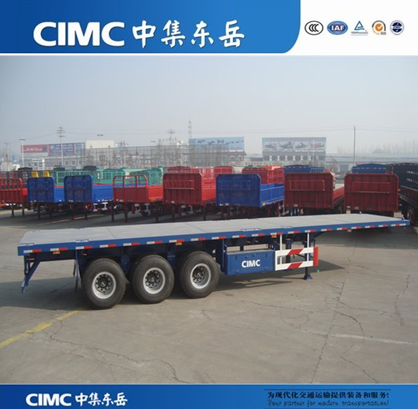 CIMC 3 Axle 40ft Flatbed Container Semi Trailer For Sale