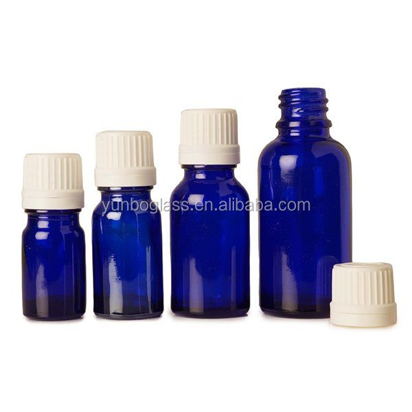 Cobalt Blue Tamper Evident Cap Bottles For Essential Oil 10 ml