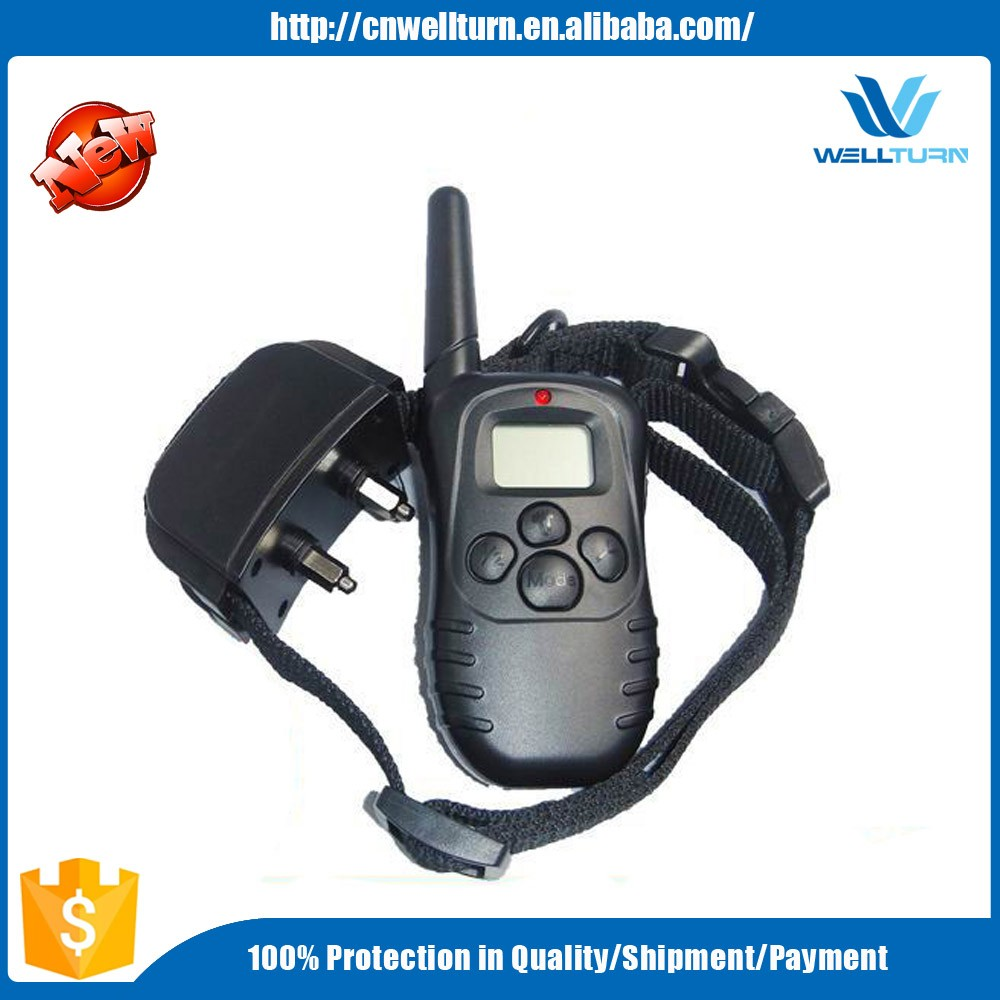 Wireless Rechargeable Lcd Remote Digital Dog Training Shock And Bark Collar