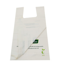 cornstarch based biodegradable custom plastic retail shopping bags with logo