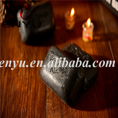 Raw Shea Butter Black Soap With Oats, Aloe, VE and Cornmeal(BS-03552)
