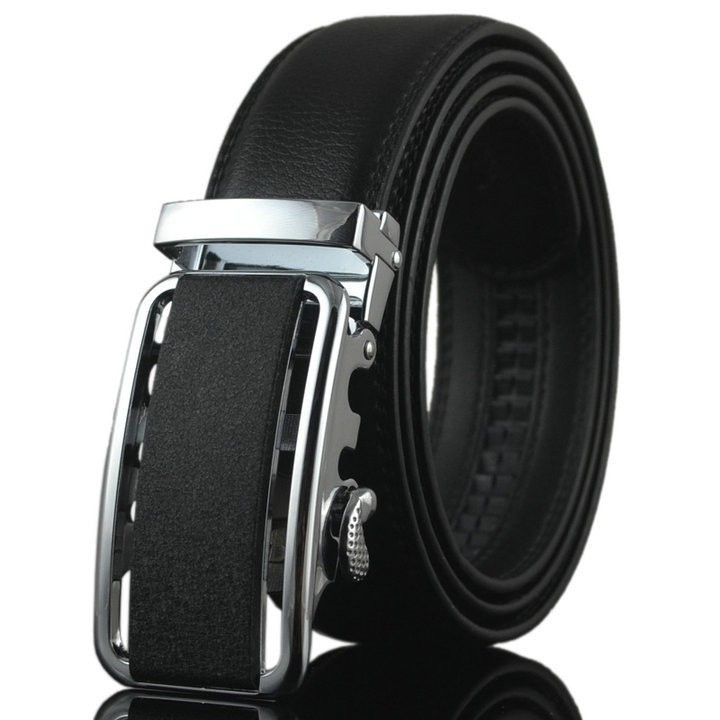 ab117 Automatic Buckle Men Leather Uniform Belt