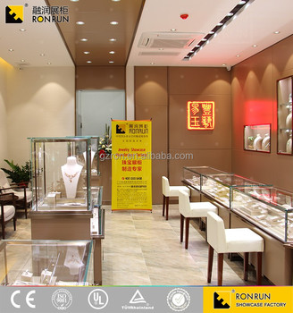TOP brand wooden glass jewelry display furniture design for retail jewellery shop