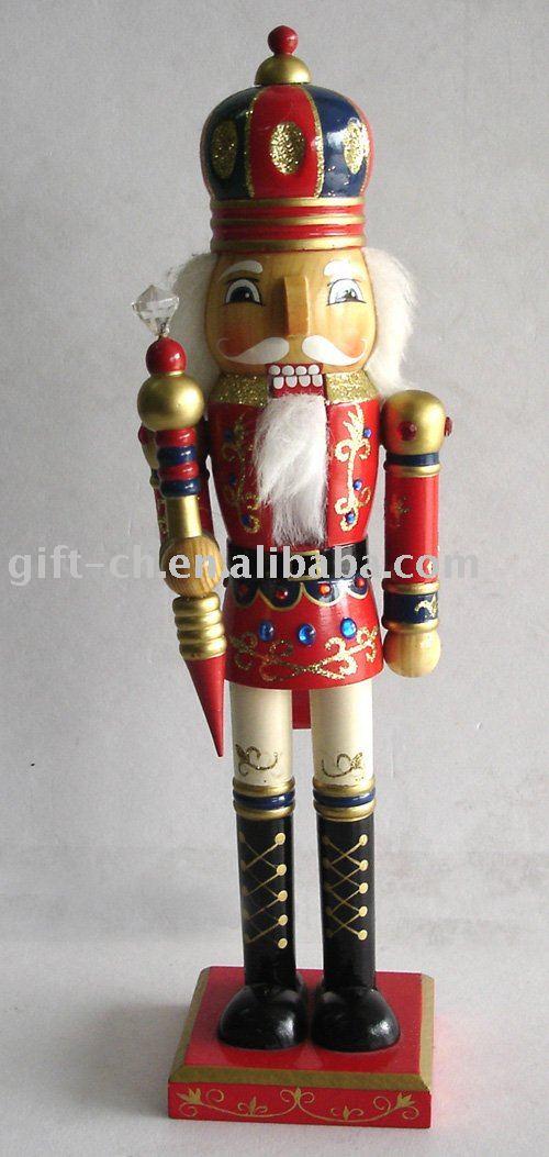 Navidad de madera cascanueces juguete de madera - Cascanueces de madera ...