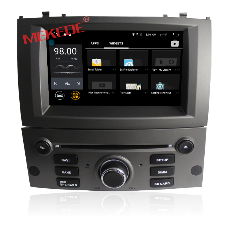 2G RAM Quad Core Android 7.1 CAR DVD player FOR PEUGEOT 407 car audio gps stereo head unit Multimedia navigation