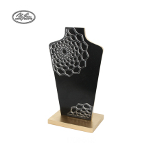 Wholesale Custom Necklace Bust Jewelry Holder Decorative Carving Wood Jewelry Display