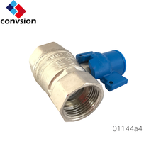 "Convsion 01144 3/4"" Oil And Gas Brass Ball Valve With Aluminium Butterfly Handle"