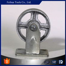 Industrial Cast Iron Rigid Caster Steel Wheel Caster