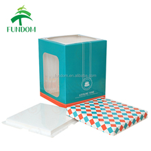 alibaba china supplier custom made gird pattern 6 inches 8 inches 10 inches tall cake box with bottom board
