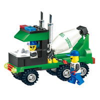 WANGE Engineering Series Concrete Trucks Toy building block