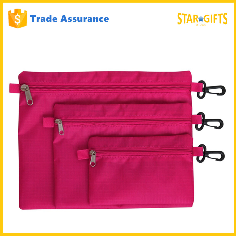 Alibaba China Supplier Custom Nylon Waterproof Packing Pouches Set Bag With Zip