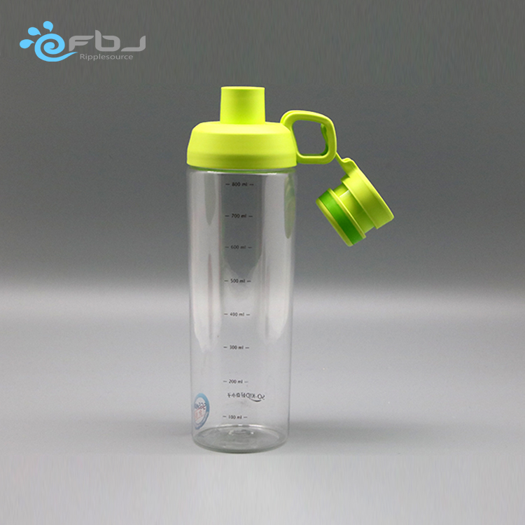 Custom Personalized silicone plastic water wholesale mugs photos sports bottle with hang tag