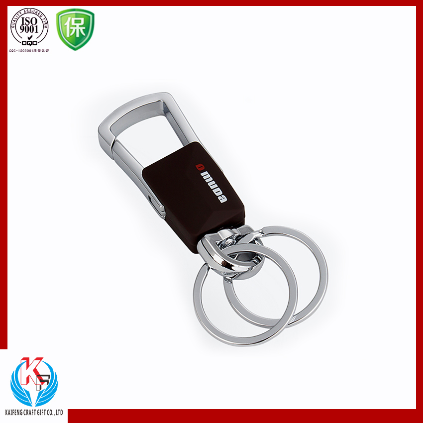 High Performance Custom Leather Car Key Chains Fobs Ring