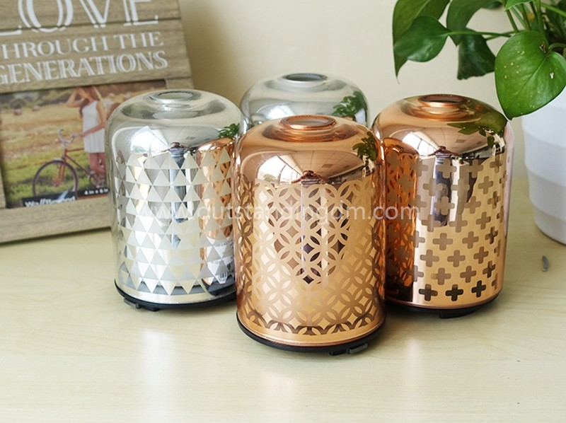 Popular Cool Mist Humidifier Essential Oil Diffuser Humidifiers With Electroplating Rose Gold Scented Oil Diffuser