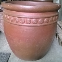 Hi fired pottery pots, garden flower planters/pots for decoration