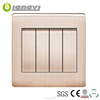 Best Selling Energy Saving 4 Gang 1 Way Modular Wall Switch