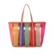 new design 2016 tote canvas printed transparent colored tripe pvc beach bag