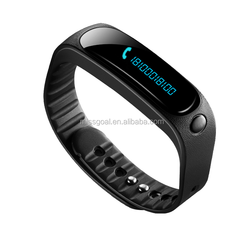 E02 MiYou Black Pedometer bracelet Bluetooth watch tracker sport wristband fitness sleep waterproof 2015 monitoring monitor oled