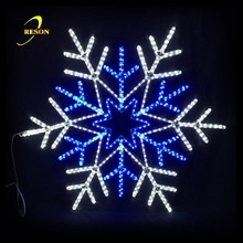 Shopping Mall Flashing Acrylic Snowflake Motif Lights