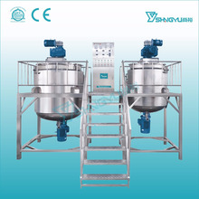 Mechanical liquid washing homogenizing mixer/double stainless steel tank liquid detergent mixer