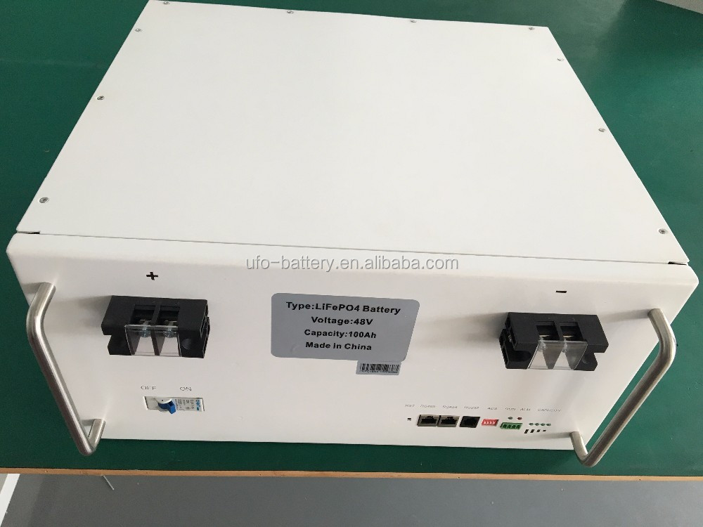 48v 100Ah solar battery custom lifepo4 storage battery pack with air switch