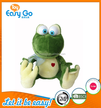 Festival plush gifts Wearing a tie of the frog with a big mouth