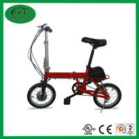 24V 10A 14 Inches Folding Li-battery Electronic Bike
