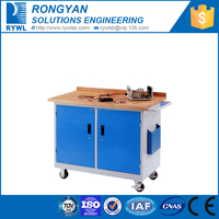 rolling cabinets cabinets with doors/roller tools workbench with beech wood top
