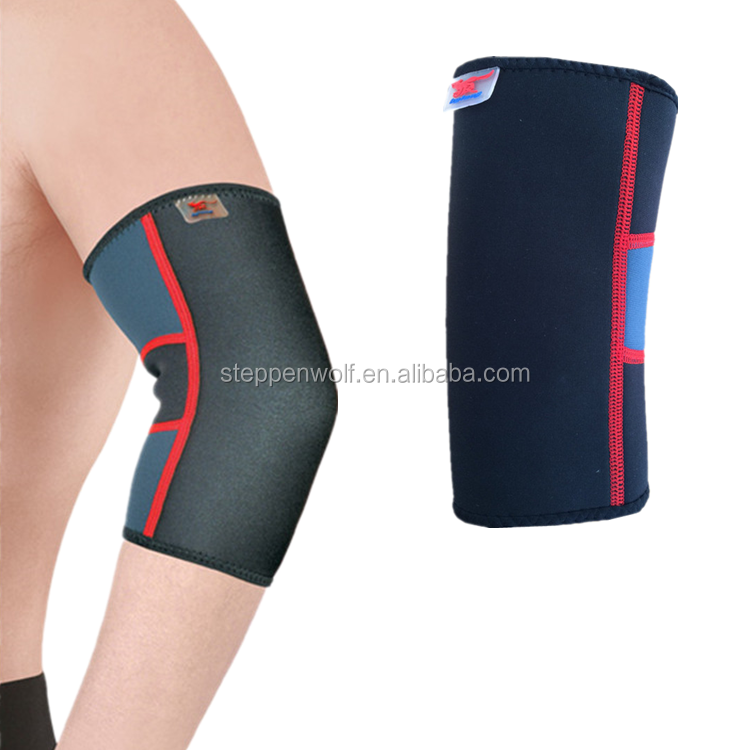 High quality neoprene compression elbow support sleeve for squatting workout bodybuilding weight lifting powerlifting
