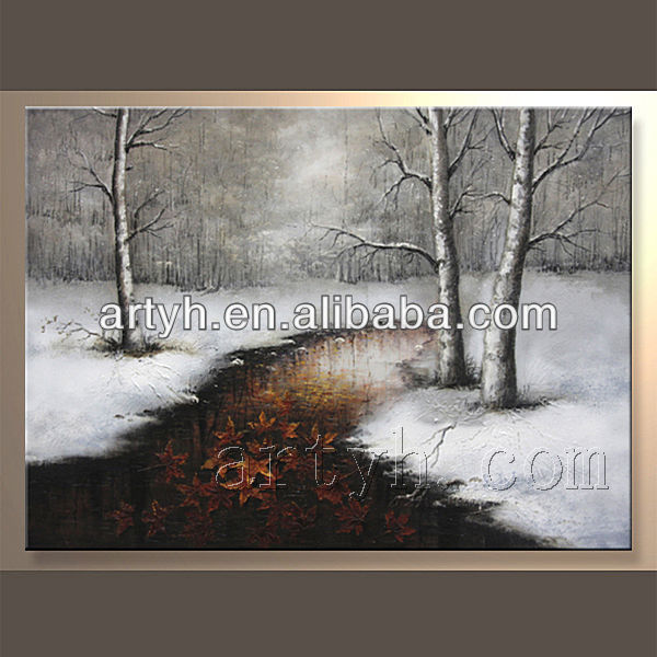 100%handmade wall decor scenery paintings