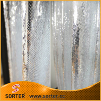 Factory Price Polyester Sequin Pinch Pleated Drapes