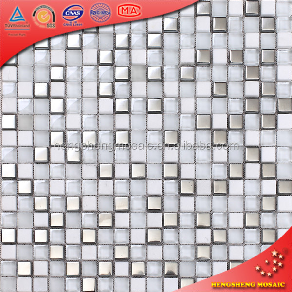Small kitchen design white bathroom crystal glass mosaic tile for wall