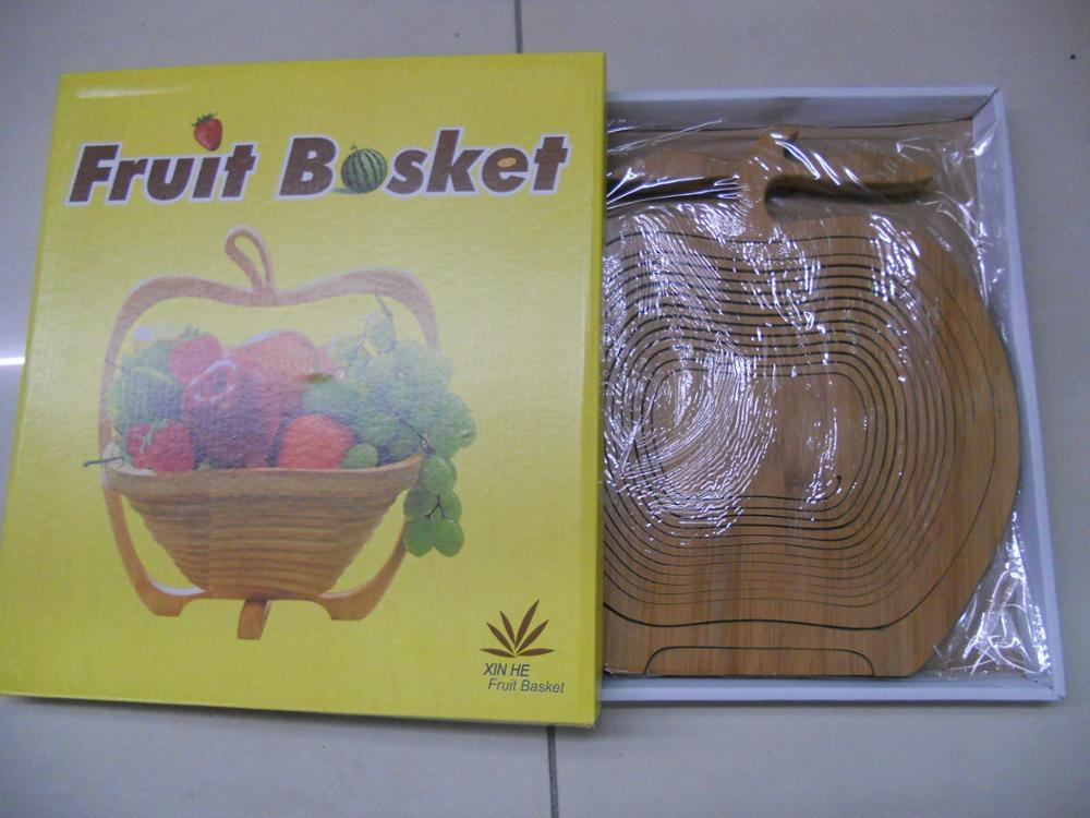 Bamboo Fruit Basket and Bamboo folding wooden fruit basket
