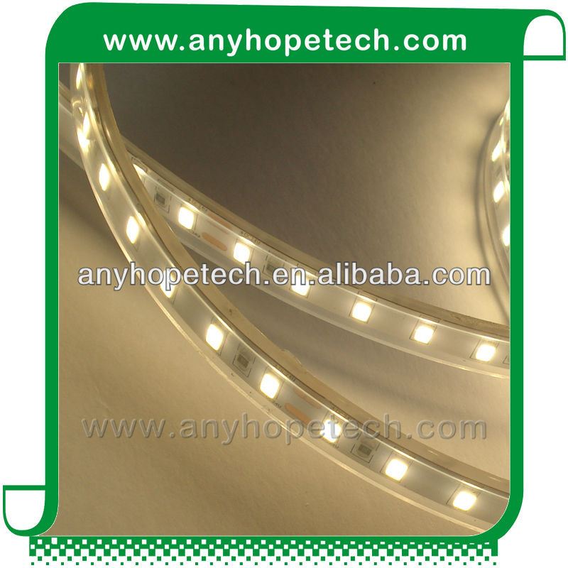 TUV UL CE RoHS 2400K warm white Ra 97 DC24V led strip 5730 5 years warranty