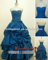 EB1356 gorgeous strapless ruffle Wedding dress fashionable prom dress
