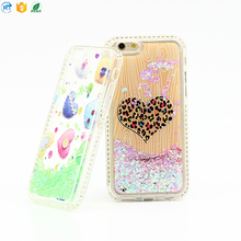 For women diamond elegant phone case with shining quick sand for iphone 6/7