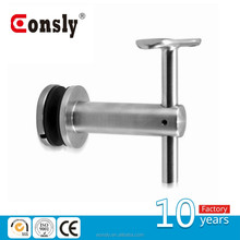 wall mounted round adjustable metal handrail support with 90 degrees
